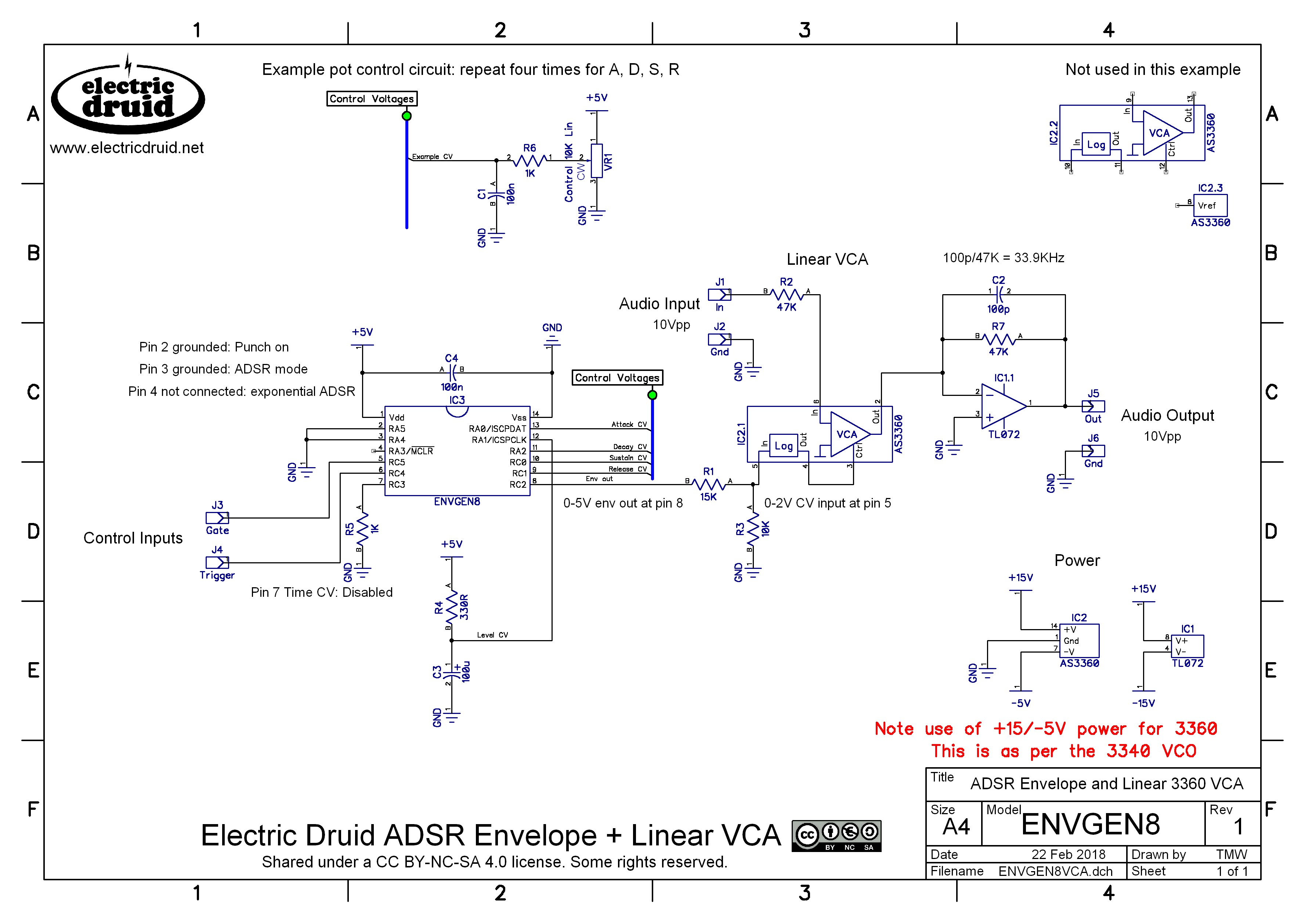 electric druid chips the next generation electric druidhex code from above file · envgen8 adsr and as3360 vca circuit diagram