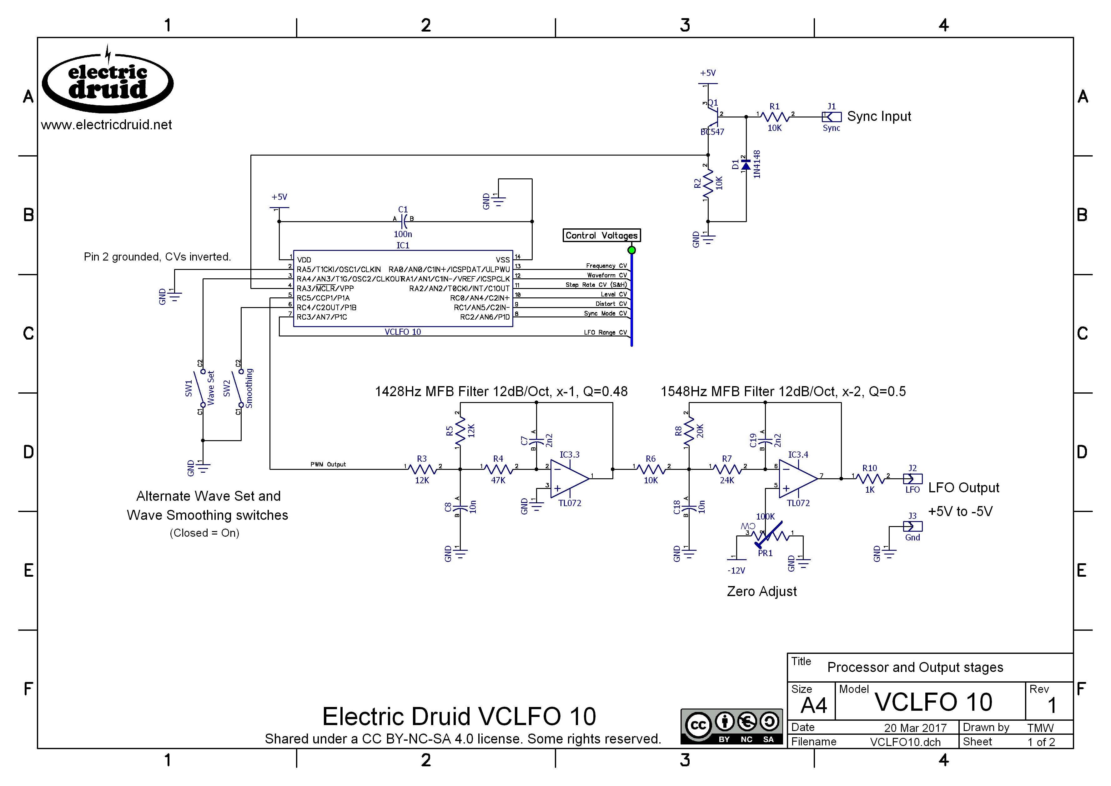 electric druid chips the next generation electric druidhex code from above file · voltage controlled vclfo circuit diagram page 1